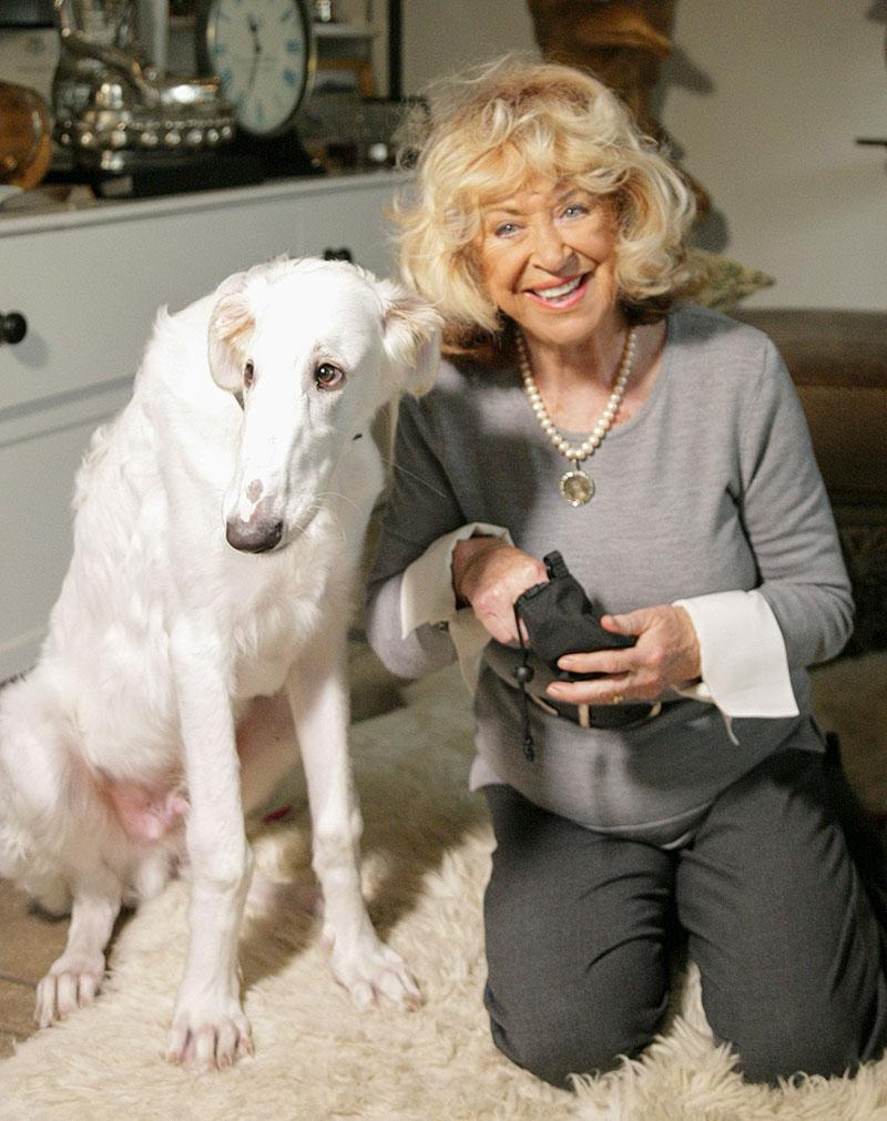 Lynda La Plante Portrait with Hugo